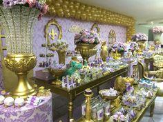 Esse tema e lindo demais. Princesa Sophia, Sofia Party, Royal Babies, Dessert Table, Table Decorations, Birthday, Holiday, Ideas, Princess Sofia Party