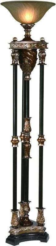 Crestview Collection CVANP812 Newcastle Torchiere Lamp 16Dia. X 6 Ht.