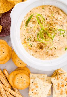 Feed your guests what they always want with crab dip, which strikes that perfect balance of classy but still OMG YUM.  Get the reipe from Delish.   - Delish.com