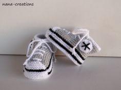 chaussures/baskets de bébé tricotées main de nana-creations sur DaWanda.com
