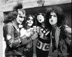 Photo of KISS ~Creem photo shoot 1974  for fans of KISS.