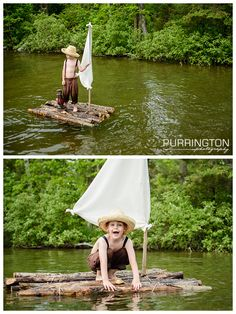 Huckleberry Finn and Tom Sawyer fun and creative idea and ideas for 5 year old boy photo shoot pictures photography.  @ Purrington Photography www.PurringtonPhotography.com Bemidji Photographer