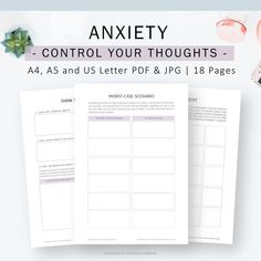 Therapy Journal to improve Anxiety Mental Health Therapy, Therapy Journal, How To Calm Anxiety, Feeling Exhausted, Guess, Anxiety Relief, Coping Skills, Planner Template
