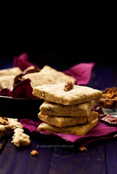 Spicy Goat Cheese, Pecan and Paprika Shortbreads