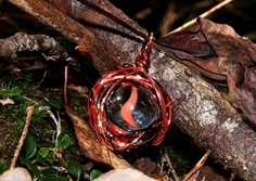 Mystic Eye - Glass Marble Pendant or Charm. $10.00, via Etsy.
