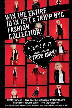 Enter for your chance to win the entire Joan Jett x TRIPP NYC Fashion collection from Hot Topic!
