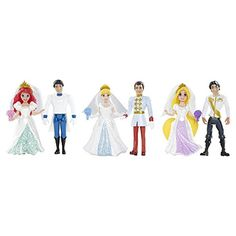 Coffret 6 figurines poupées princesses disney MAGICLIP…