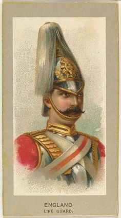 Life Guard, England, from the Military Uniforms series (T182) issued by Abdul Cigarettes