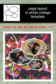 So, if you like these layouts... I am sure, you will like my others. Have a look >>> #scrapbooking #layout #template #page #12x12 Scrapbook Templates, Scrapbook Pages, Page Layout, Layouts, Photo Collage Template, Layout Template, Scrapbook Supplies, First Photo, Diy Cards