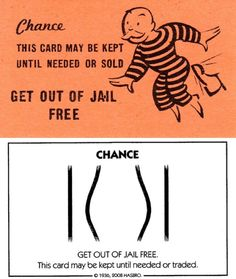 """Then & Now #13: Monopoly """"Get Out of Jail Free""""card"""