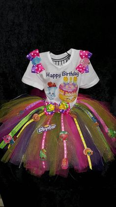 Limited Edition Shopkins Shirt And Tutu Combo - SWALKERDESIGNS & TurnTo Designs