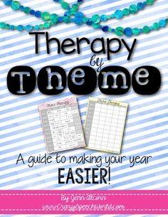 Crazy Speech World FREEBIE! Theme unit calendar for speech therapy by Jenn Alcorn