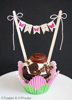 cupcake pennant banner