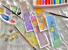 These bookmarks are available, if you're interested order yours now☺️ My Drawings, Bookmarks, Watercolor Paintings, Personalized Items, Art, Art Background, Marque Page, Watercolor Drawing, Kunst