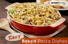 7 Easy Baked Pasta Dishes | via @SparkPeople #recipe #food #dinner