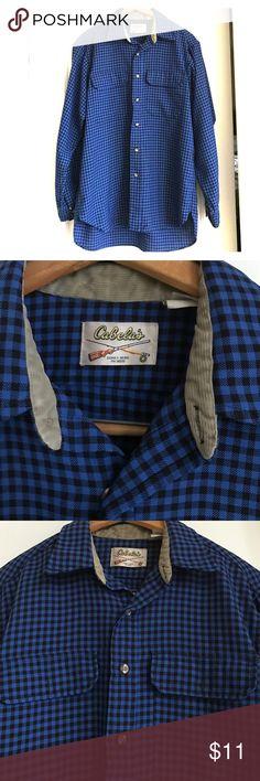 Men's Cabela's flannel shirt L Cozy men's button down. Cabela's Shirts Casual Button Down Shirts
