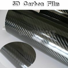 152CMX30CM New Glossy Black 5D Carbon Fiber Vinyl Wrap Film DIY Car Decorative Stickers For Motorcycle Motor Car Truck Etc