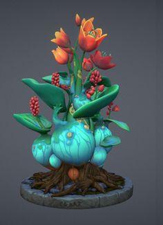 Hand paint Flower, cgart vn on ArtStation at https://www.artstation.com/artwork/OZ8Qg