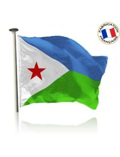 Drapeau Djibouti Made In France by Manufêtes