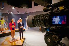 Filmando en el foro A con la cámara #Sony F3.