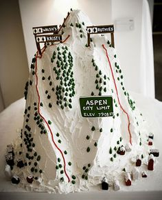 ski run groom's cake ~ cake design by Take the Cake / photo: Garbo Productions