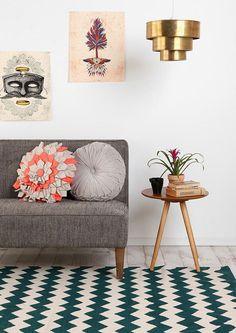 Tapetes com padrões geométricos