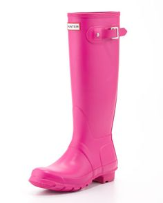 Original Tall Welly Boot, Lipstick Pink by Hunter Boot  When it rains it pours, that's why these are perfect!