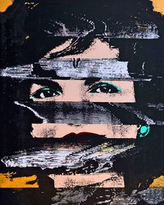 """Saatchi Art Artist Alexander Key; Pop Painting, """"Jackie VHS (Gold)"""" #art   Discover more modern minimalist art on Saatchi Art http://www.saatchiart.com/art-collection/Painting-Photography-Sculpture/Modern-Minimalism/788691/115956/view"""