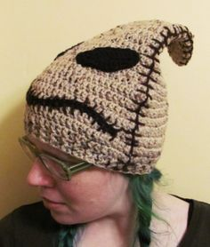 Nightmare Before Christmas Crocheted Oogie Boogie Beanie Style Hat | HatsandSpats - Accessories on ArtFire Idea for Cody & Christmas