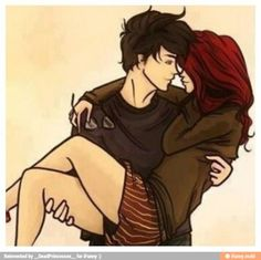 couple drawing_____ This would be a perfect couples photo shoot photo since I have dark red hair (dyed)