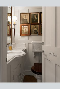 Robin Birley's new private London club, 5 Hertford Street. WSJ mag, photo by James Merrell, bathroom