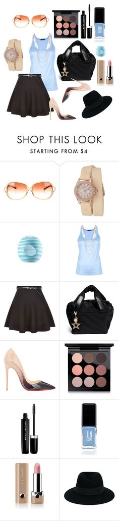 """Everyday a star"" by noa-antebi-pinto on Polyvore featuring Oliver Peoples, Michele, Eos, Dsquared2, New Look, See by Chloé, Christian Louboutin, MAC Cosmetics, Marc Jacobs and JINsoon"