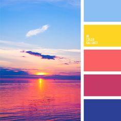 Контрастное сочетание цветов этой палитры придется по вкусу тем, кто планирует создать яркий и современный интерьерный дизайн. С ее помощью можно добиться очень оригинальных решений.
