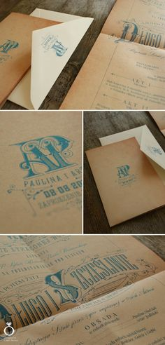 Vintage Opera wedding invitations for Paulina & Artur / Design by Calym Sercem