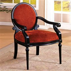 Southampton Accent Chair Distressed Black Solid Wood Arm Chair