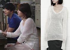 "Park Ha-Sun 박하선 in ""Temptation"" Episode 3.  Milan Laurent Elga Knit Sweater #Kdrama #Temptation 유혹 #ParkHaSun"