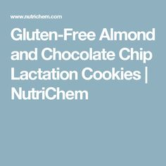 Gluten-Free Almond and Chocolate Chip Lactation Cookies | NutriChem