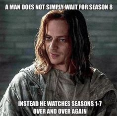 Game of Thrones season 8 is starting on 14 April. HBO already released new Trailer. Fans are already making Memes and jokes about Got Read More. Game Of Thrones Meme, Got Quotes Game Of Thrones, Game Of Thrones Decor, Khal Drogo, Breaking Bad, Game Of Throne Lustig, Jon Snow, Jaqen H Ghar, Game Of Thrones Instagram