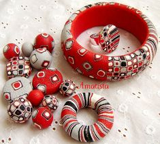 Clay Retro Canes | 262 best Extruded Polymer Clay images on Pinterest ...