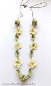 Ravelry: Crochet Cute Flower Necklace pattern by Alina Melinda