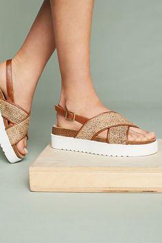 Slide View: 3: Anthropologie Tweed Slingback Sandals