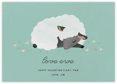 Love Ewe - Celadon - Paperless Post