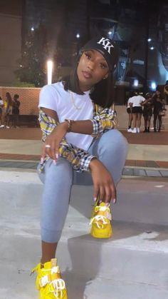 Plaid Dress, Shirt Dress, Black Girl Aesthetic, Instagram Outfits, Petite Dresses, Beautiful Black Women, Long Sleeve Crop Top, Colored Jeans, High Waisted Skirt
