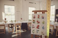 Floral table plan  | Photography by http://www.rebeccadouglas.co.uk/blog/