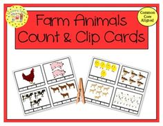 These cards are terrific for Math Centers – A Hands-On Activity your kiddos will love! Sharks Clip Cards allow learners to practice counting. There are 20 clip cards. On each card is a set of pictures to count and a choice of three numerals. Learners count the pictures in the set and clip a clothespin to the numeral that corresponds with the number of pictures in the set.