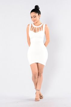 - Available in Hunter Green and Off White - Mini Dress - Caged Front - Sleeveless - Zipper Back - Made in USA - 65% Rayon 30% Rayon %5 Spandex http://amzn.to/2tOYioH