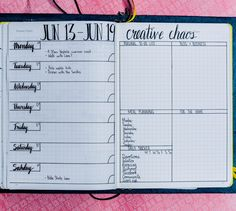 Use this for your weekly layout and see how it works. It has flexibility and all the little nifty things you need for the week.