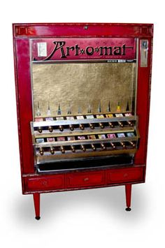 Art-o-mat machines are retired cigarette vending machines, converted to vend art. There are over 90 active machines throughout the U.S. The experience of pulling the knob alone is quite a thrill, but you also walk away with an original work of art. What an easy way to become an art collector! There are around 400 contributing artists from 10 different countries currently involved in the Art-o-mat project. [kitsch] Visit Winston-Salem  200 Brookstown Avenue  Winston-Salem, NC
