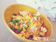 theJAZZYBEE: Loaded Baked Potato Casserole -- Crockpot Recipe