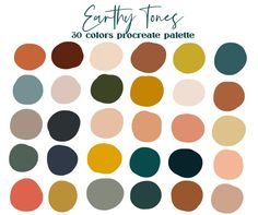 Color Palette For Home, Earthy Color Palette, Neutral Colour Palette, Warm Color Palettes, Color Tones, Retro Color Palette, House Color Palettes, Complimentary Color Scheme, Website Color Palette